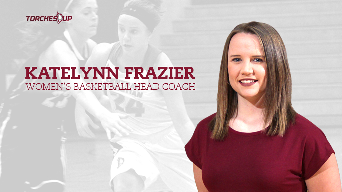 Katelynn Frazier was announced as the new head coach of the Saints women's basketball program on Wednesday.
