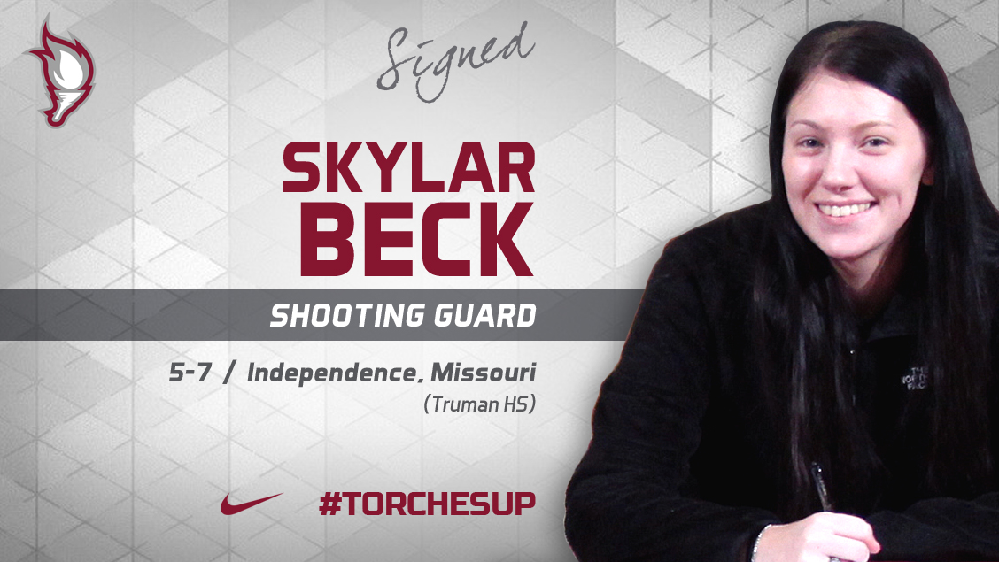 Skylar Beck of Independence, Mo., was announced on Tuesday as the first signee of the 2018 recruiting class by new head coach Katelynn Frazier.