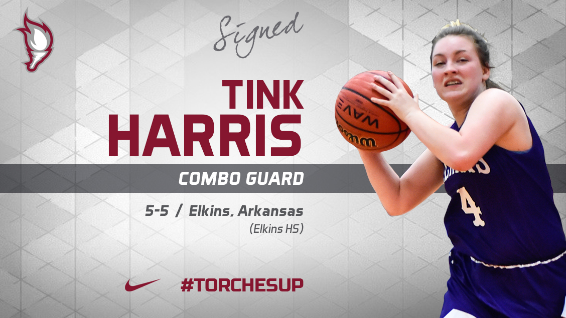 Tink Harris of Elkins, Ark., was announced on Tuesday as the second signee of the 2018 recruiting class by new head coach Katelynn Frazier.