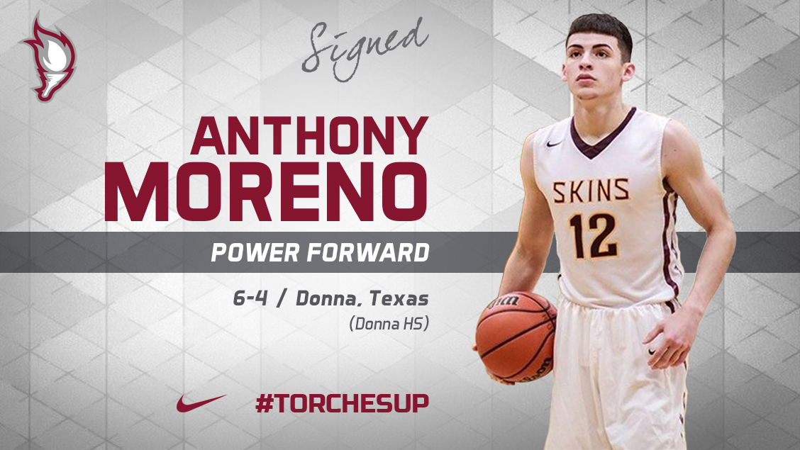 Anthony Moreno of Donna, Texas, was announced on Tuesday as the sixth signee of the 2018 recruiting class by head coach Jack Defreitas.