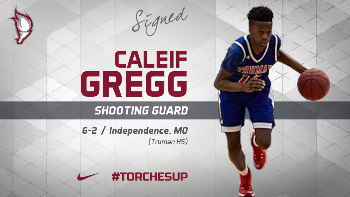 Caleif Gregg of Independence, Mo., was announced on Friday as the seventh signee of the 2018 recruiting class by head coach Jack Defreitas.