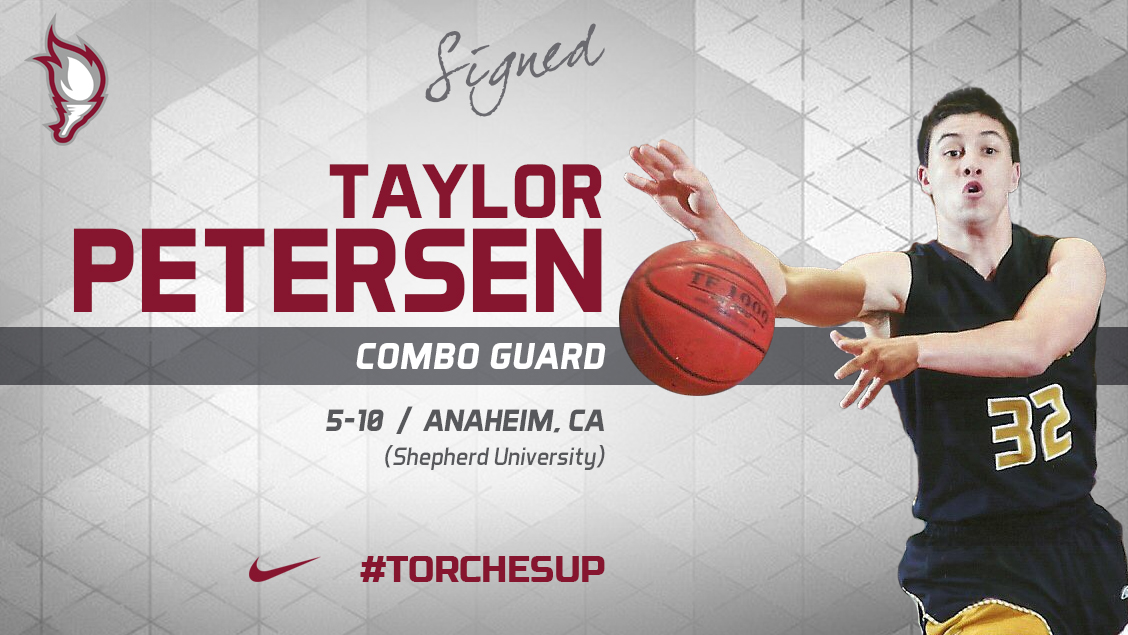 Taylor Petersen of Anaheim, Calif., was announced on Monday as the 10th signee of the 2018 recruiting class by head coach Jack Defreitas.