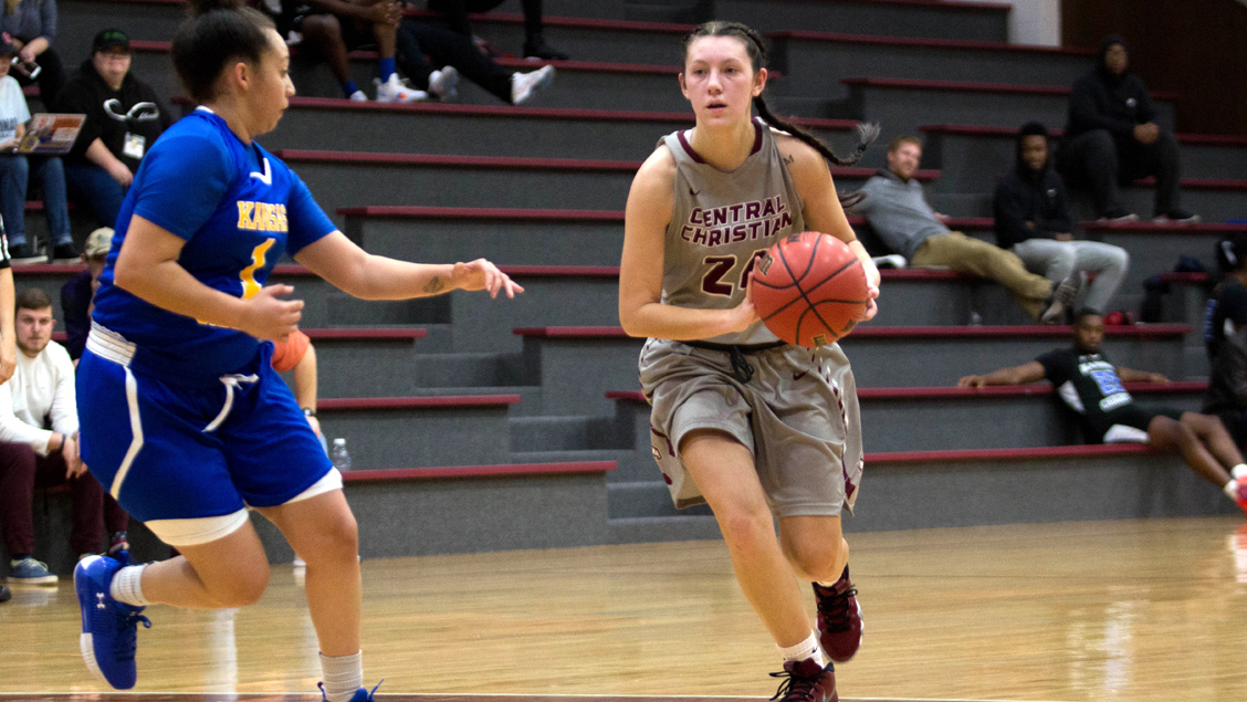 CCCB freshman Skylar Beck scored five points on Friday during the Saints' 68-45 loss to Providence University College.