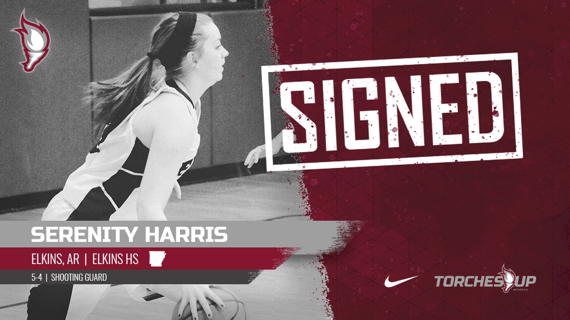 Serenity Harris of Elkins, Ark., was announced on Thursday as the third signee of the 2019 recruiting class by head coach Meagan Henson.