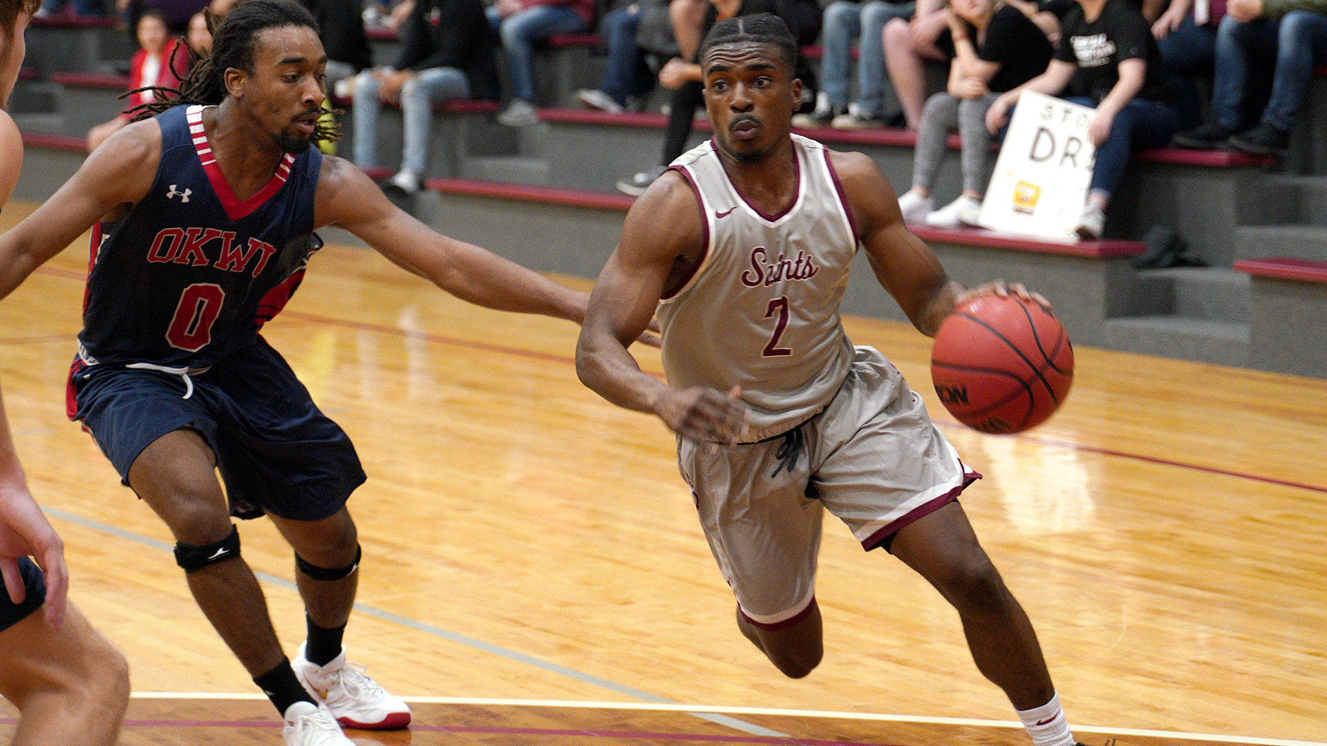 CCCB senior Josh Crawford scored four points and handed out three assists in the Saints 75-69 win over Lincoln Christian University on Tuesday.
